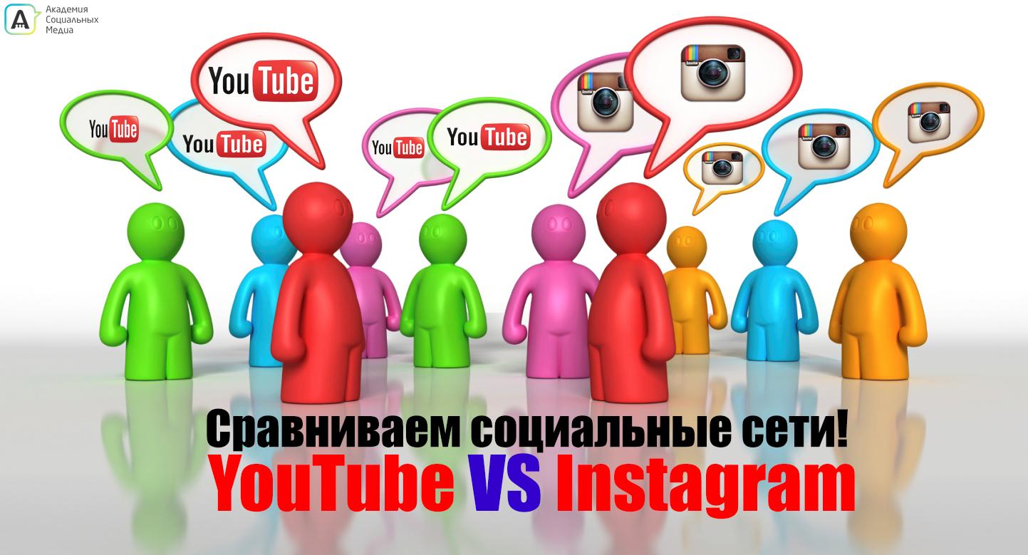 Сравниваем социальные сети instagram vs