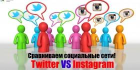 Сравниваем соц.сети. Instagram vs twitter