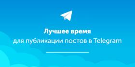 лучшее время для публикации постов в телеграм
